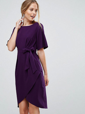 Closet London Wrap Front Pencil Dress With Obi Belt