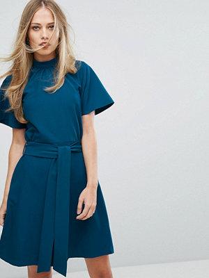 Closet London High Neck Aline Skater Dress - Teal