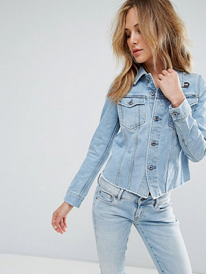 G-Star 3301 Ripped Fitted Denim Jacket