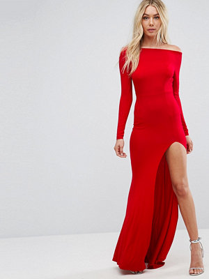 ASOS Long Sleeve Open Back Maxi Fishtail Dress