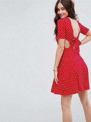 ASOS Mini Tea Dress With Tie Back In Polka Dot - Polka dot