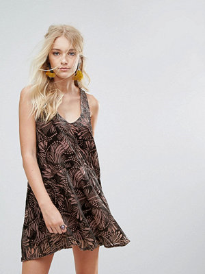 Free People Ellie Burnout Printed Mini Dress