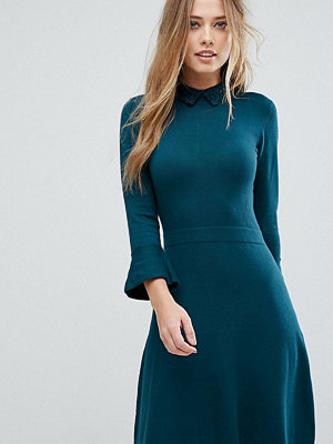 Warehouse Lace Collar Skater Dress