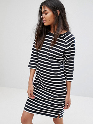 Selected Natali 3/4 Sleeve Striped Jersey Shift Dress
