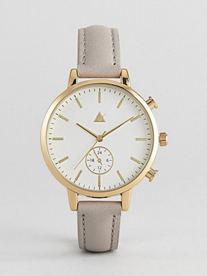 ASOS Triple Crown Leather Watch