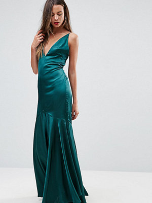 Taller Than Your Average TTYA BLACK Cami Strap Maxi Dress With Fishtail Hem