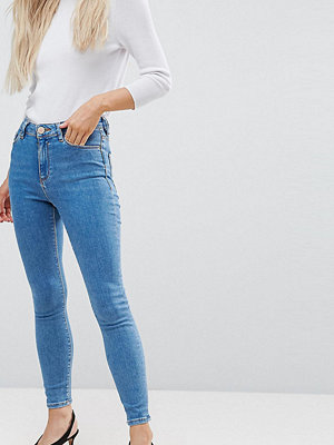 ASOS Petite RIDLEY High Waist Skinny Jeans in Lily Wash