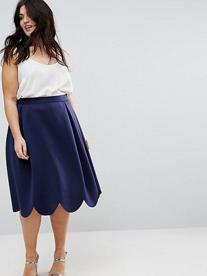 ASOS Curve Prom Skirt with Scallop Hem