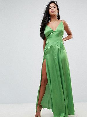 ASOS Petite ULTIMATE Cami Thigh Split Maxi Dress