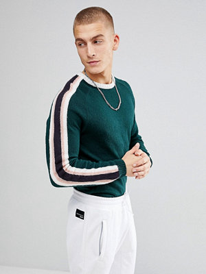 ASOS Fluffy Jumper With Contrast Stripes