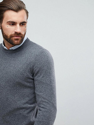 ASOS Cashmere Jumper In Charcoal - Charcoal