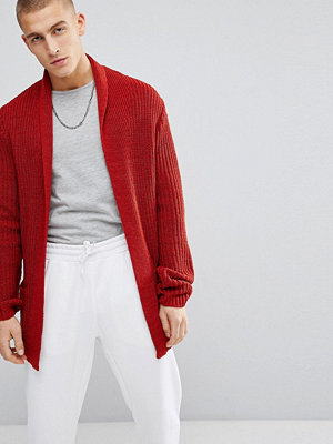 ASOS Ultimate Knitted Cardigan In Rust