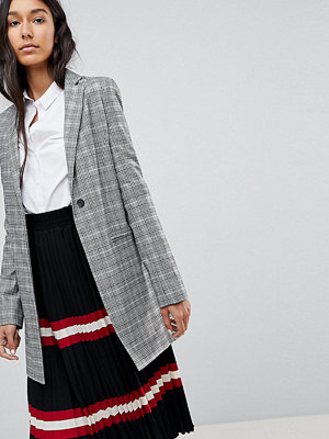 Asos Tall Tailored Longline Slim Check Blazer - Check