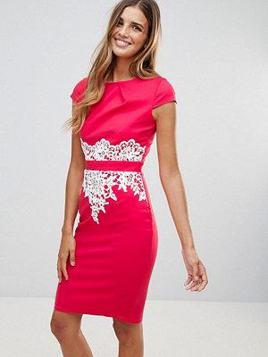 Paper Dolls Lace Detail Dress - Coral