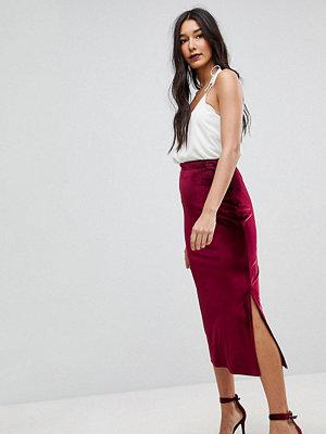 Asos Tall Velvet Pencil Midaxi Skirt