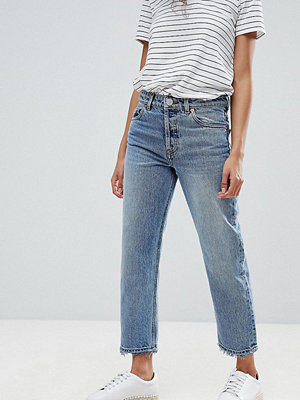 ASOS Petite Recycled Florence authentic Jeans med raka ben i spring light stone wash Ljus sten