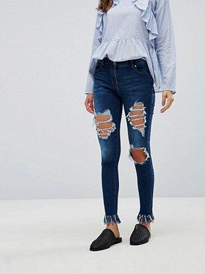 Parisian Extreme Ripped Skinny Jeans - Dark indigo