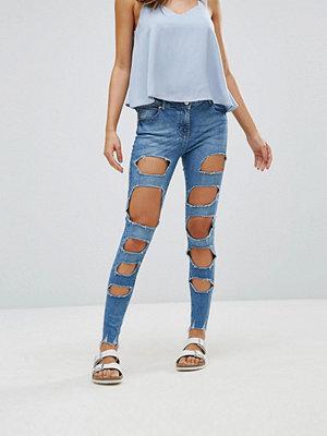 Parisian Extreme Rip Skinny Jeans - Acid