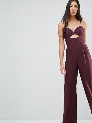 Asos Tall Tailored Jumpsuit with Cut Out Detail and Wide Leg