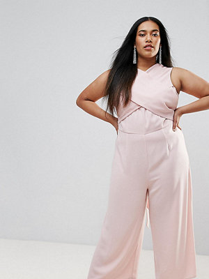 ASOS Curve Jumpsuit with Wrap Front and Tie Back