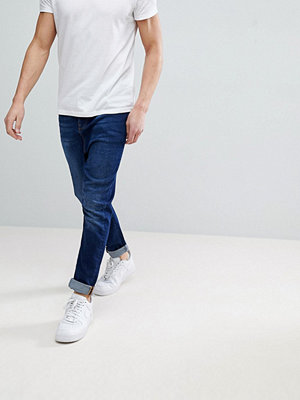 ASOS Drop Crotch Jeans In Vintage Dark Wash With Tint
