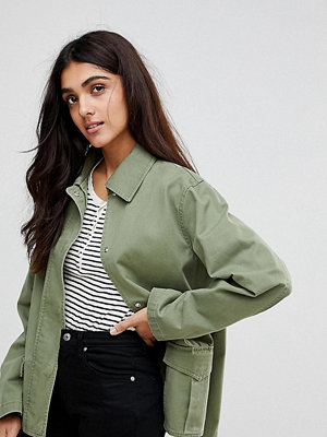 Asos Tall Washed Cotton Jacket - Khaki