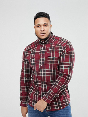 ASOS PLUS Stretch Western Check Shirt