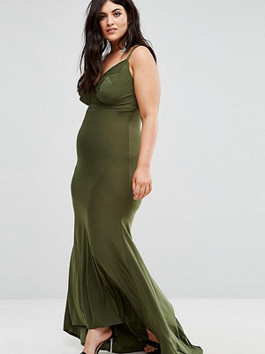 Club L Plus Strappy Back Maxi Dress With Fishtail