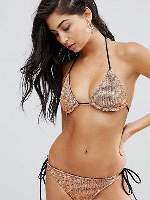 ASOS Rose Gold Chain Mail Effect Triangle Bikini Top