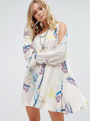 Free People Clear Skies Cold Shoulder Printed Dress