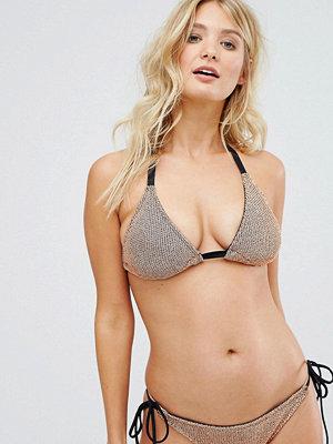 ASOS FULLER BUST Chain Mail Effect Triangle Bikini Top