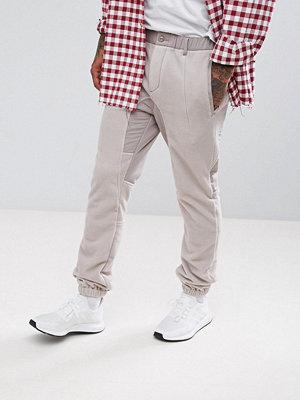 ASOS Slim Trousers With Fleece Panels