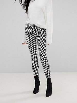 ASOS WHITBY Low Rise Jean In Checkerboard Print