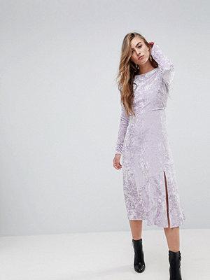 Miss Selfridge Velvet Midi Skater Dress