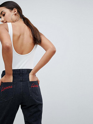 Liquor N Poker Straight Leg Jean with Embroidery Back Pocket