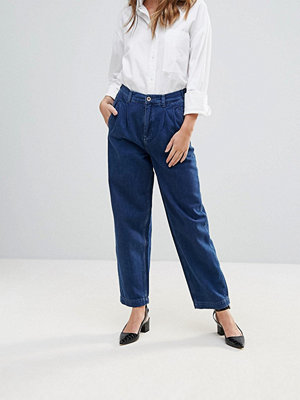 BETHNALS Aidan Pleat Front Mom Jeans - Indigo