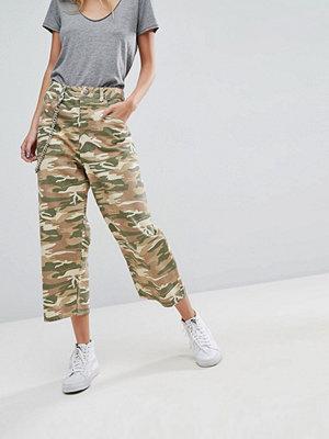 ASOS Crop Skater Jeans in Camo Print