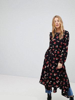 Miss Selfridge Floral Hanky Hem Dress