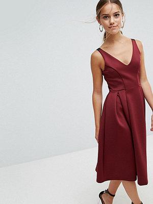 ASOS Petite High Apex Seamed Scuba Midi Dress