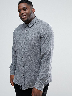 ASOS PLUS Slim Brushed Twill In Charcoal