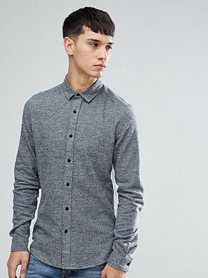 ASOS TALL Slim Brushed Twill In Charcoal
