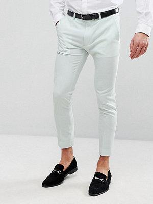 ASOS Wedding Super Skinny Crop Smart Trousers In Mint