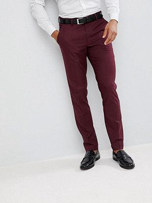 ASOS Skinny Smart Trousers In Burgundy
