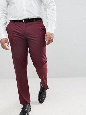 ASOS PLUS Skinny Smart Trousers In Burgundy
