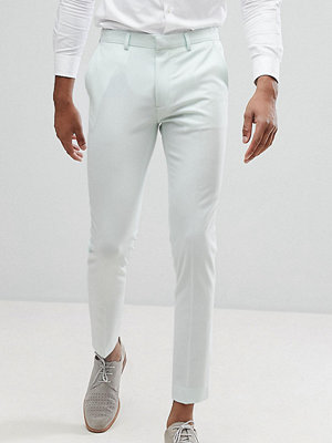 ASOS TALL Wedding Super Skinny Cropped Smart Trousers In Mint