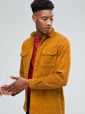 ASOS TALL Cord Overshirt In Mustard