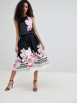 Paper Dolls Floral Print Skater Midi Skirt - Floral print