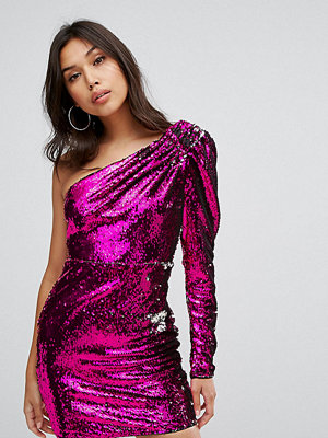 TFNC One Shoulder Sequin Mini Dress