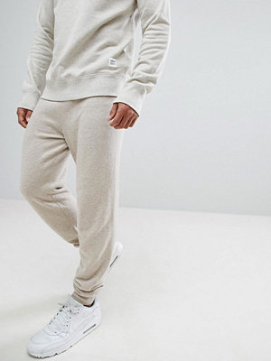 ASOS Cashmere Mix Joggers In Oatmeal