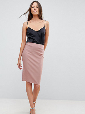 Asos Tall High Waisted Pencil Skirt - Nude